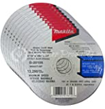 """Makita® 10 Pack - 4 1 2 Cutting Wheel For Grinders - Aggressive Cutting For Metal & Stainless Steel/INOX - 4-1/2"""" x .045 x 7/8-Inch   Flat"""