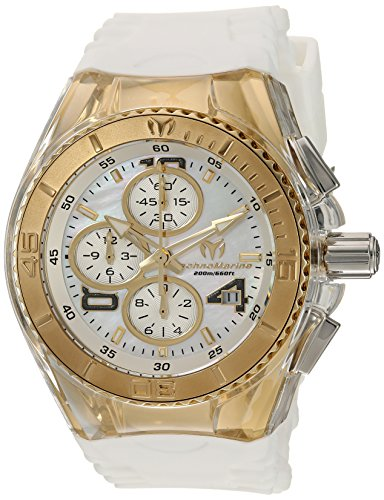 Technomarine Women's 'Cruise' Quartz Stainless Steel and Silicone Casual Watch, Color:White (Model: TM-115309)