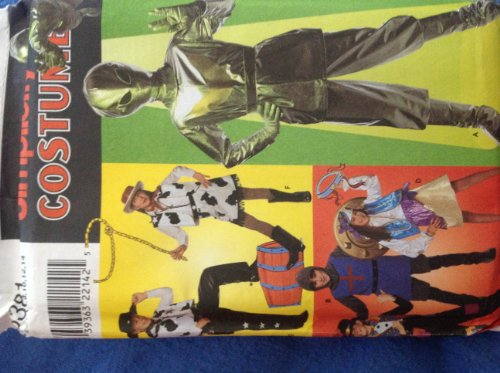 Simplicity 8381 Selling Patterns for Boys Girls Children's 7 8 10 12 14 Costumes Alien Cowboy Cowgirl Knight Hobo-clown
