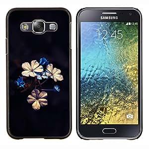 TECHCASE---Cubierta de la caja de protección para la piel dura ** Samsung Galaxy E5 E500 ** --Hermosas flores