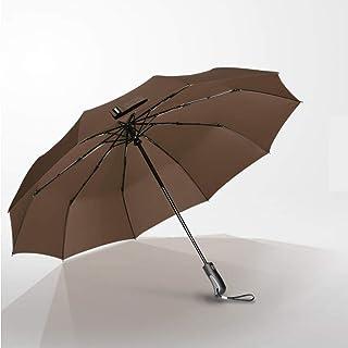 JSSFQK Parapluies automatiques Parapluies pliants ménagers Hommes et Femmes Coupe-Vent Grands parapluies pliants renforcés Variété de Couleurs Parapluie (Couleur : Noir)