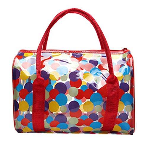 Transparent bunter wasserdichter Strandtasche/Aufbewahrungstasche(Multicolor)