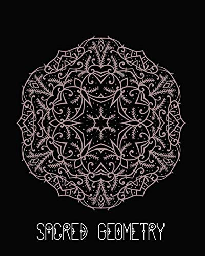 Sacred Geometry: Delicate Pink Filigree Mandala Art Journal Cover , Cornell Lined Notebook . Geometric Design for Yoga, Meditation , Dream Diary or Notes for Work or School.