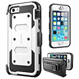 iPhone 5/5s/SE Case, [Armorbox] i-Blason Built in [Screen Protector] [Full Body] [Heavy Duty Protection ]/Holster/Bumper Case for Apple iPhone SE 2016 Release/Compatible with iPhone 5S/5 (White)