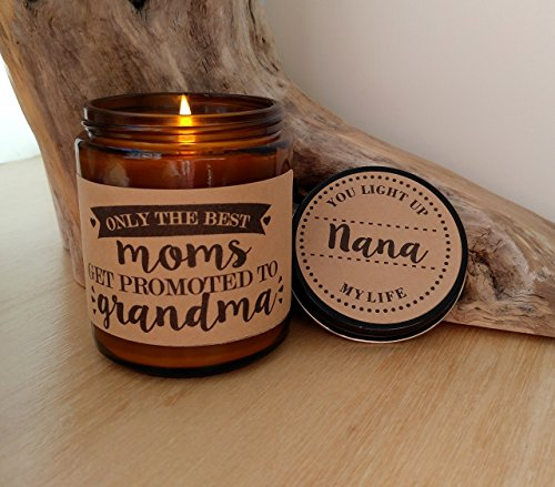 Grandma Gift Promoted to Grandma Personalized Candle Mothers Day Gift for Grandma Gift for Grandmother Gift for Nana Scented Soy Candle