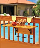 The Lakeside Collection Folding Deck Table - Natural