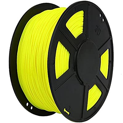 WYZWorks 3D Printer Filament 3mm PLA Thermoplastic Polylactic Acid 1kg 2.2lb [ Flourescent Yellow ]