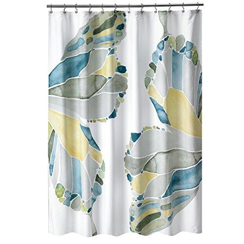- Shell Rummel Butterfly Shower Curtain, Yellow