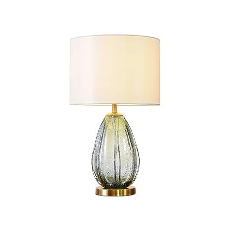Lámpara de mesa de vidrio de color lámpara de mesa de noche ...