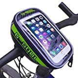 BXT Quick Release Cycling Bike Handlebar Bags Bicycle Front Top Tube Frame Pannier Bike Bag Pouch with 4.8