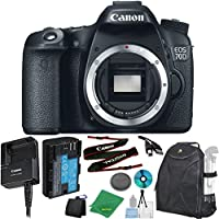 Canon EOS 70D 20.2 MP Digital SLR with Dual Pixel AF Full HD 1080p Video with Movie Camera Body (NO LENS), ZeeTech 6pc Starter Cleaning Set, ZeeTech Microfiber Cleaning Kit, Backpack Case for DSLRs