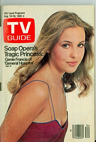 1980 TV Guide Aug 23 Genie Francis of General Hospital - Dayton Edition Very Good to Excellent (4 out of 10) Used...