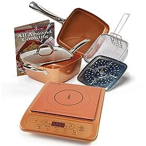 Amazon Com Copper Chef 9 5 Quot Deep Square Pan 6 Piece Set