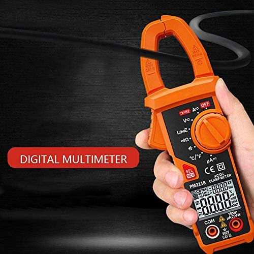 ZYL-YL Clamp Multimeter - PM2118 Dual Display AC DC Clamp Multiemeter NCV Ohmmeter Capacitance Temp Tester