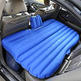 ZXQZ Car Inflatable Bed Foldable Adult Outdoor Travel Bed Automobile Universal Shockproof Portable Air Bed Children's Anti-Drop Movable Air Bed Air Bed— (Color : Blue)