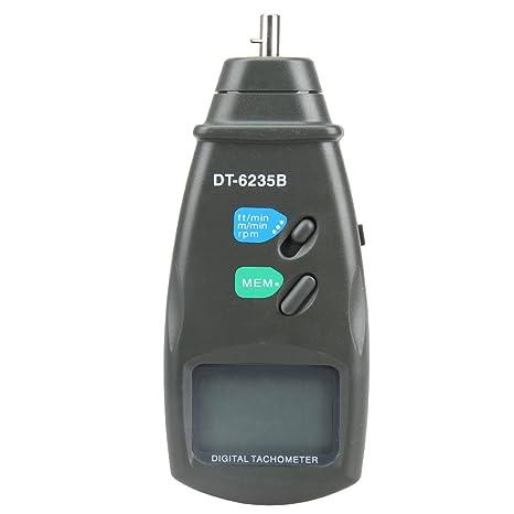 amazon com vktech dt6235b digital contact tachometer rpm meter