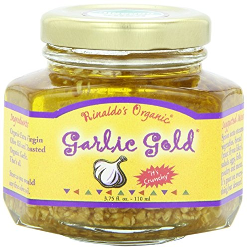 Organic Garlic Granules in Extra Virgin Olive Oil, USDA Organic Certified Sodium Free Non GMO & Vegan by Garlic Gold (3.75 oz)