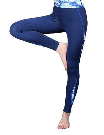 Aivtalk - Femme Legging de Sport Nylon -Impremé Multicolor - Pantalons  Fitness Slim Serré Longue 9c5a5beeba7