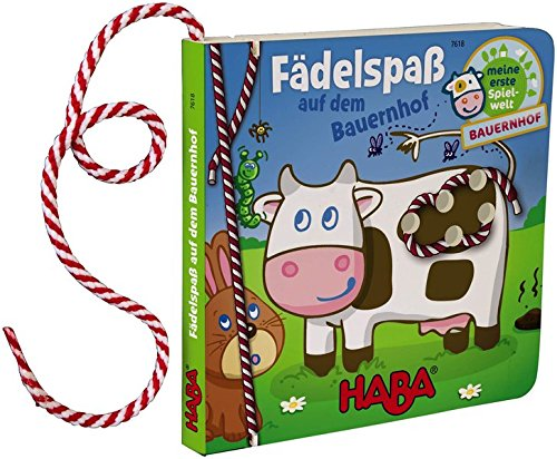 HABA 7618 - Fädelspaß auf dem Bauernhof, Fädelbuch