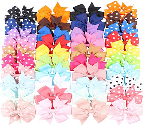 nch Baby Girls Grosgrain Ribbon Boutique Hair Bows Alligator Clips Head Headbands Simple For Teens Babies Toddlers Children ()