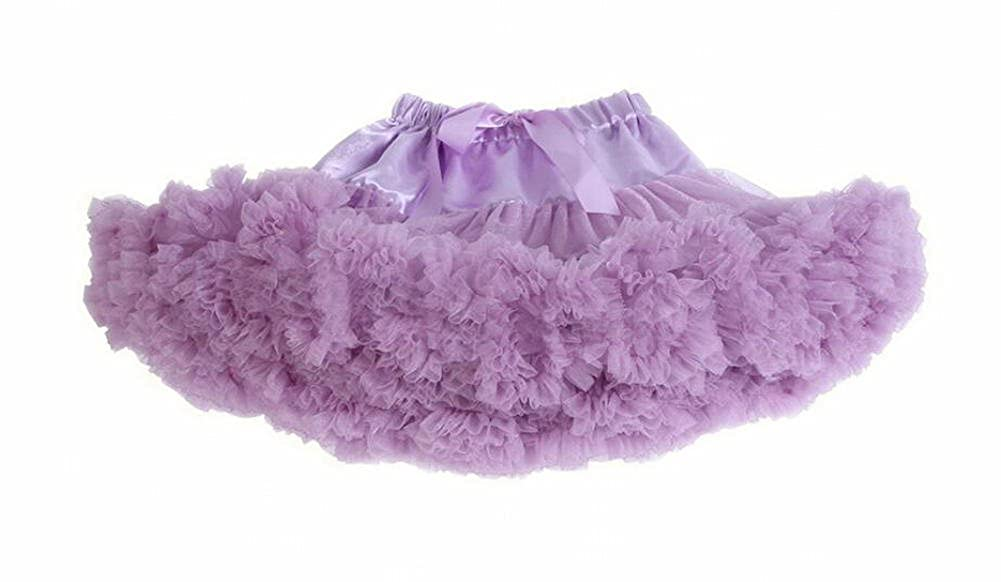 Freedi Little Girls Tulle Tutu Skirts Dance Bubble Elastic Dress Princess Newborn 3 Layer Ballet Skirts