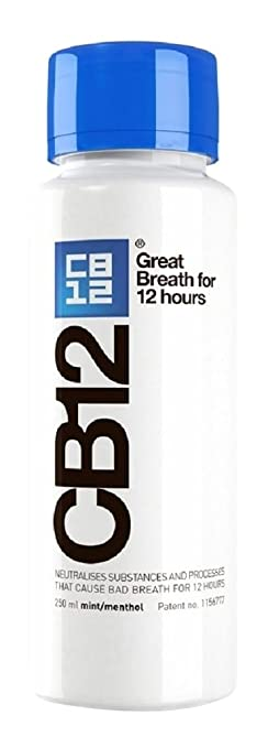 3 opinioni per CB12 250ml Mint Menthol Safe Breath Oral Care Effective Mouthwash