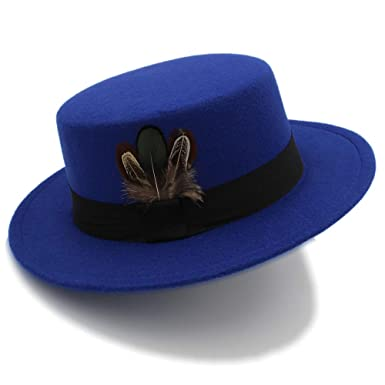 LNC#YM Hembra de Fieltro marrón Sombrero de Fieltro Cinta Arco ...
