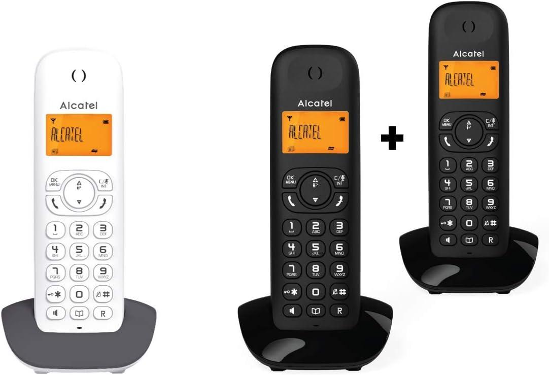 Alcatel Telefono Inalambrico, DECT C350 Dúo EMA, Negro: Amazon.es: Electrónica
