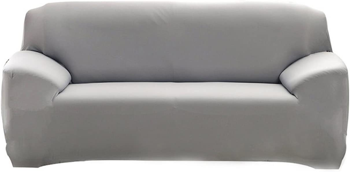 HOTNIU Stretch Sofa Slipcover 1 Piece Polyester Spandex Fabric Couch Cover Fitted Furniture Slipcovers for Loveseat and Sofas (Sofa, Grey)