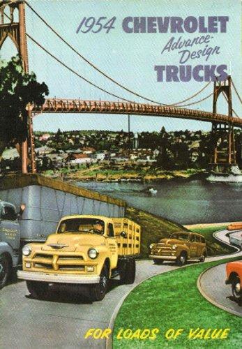 BEAUTIFUL 1954 CHEVROLET TRUCK & PICKUP 2nd SERIES DEALERSHIP SALES BROCHURE - ADVERTISMENT CHEVY GM 54 ()