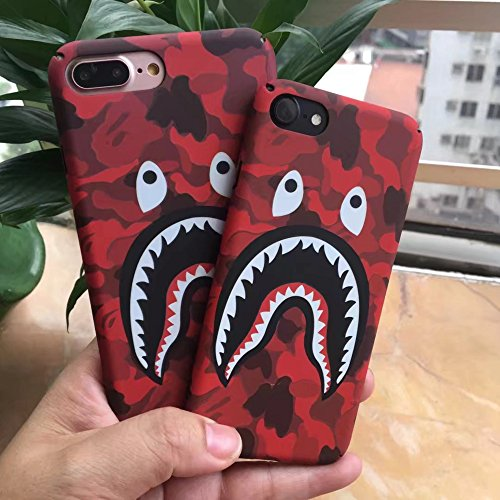 A Bathing Ape (Bape) iPhone 6/6s Protective Hard Case Cover Red Camo  (Iphone 6 6S)