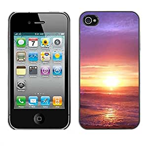Exotic-Star ( Sunset Beautiful Nature 33 ) Fundas Cover Cubre Hard Case Cover para Apple iPhone 4 / 4S