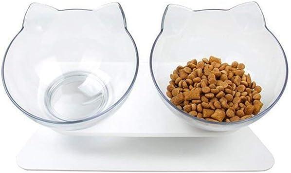 Cuenco de Comida para Gatos con Recipiente de Comida Elevado ...