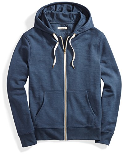 Goodthreads Men's French Terry Full-Zip Hoodie, Navy Eclipse, Large by Goodthreads