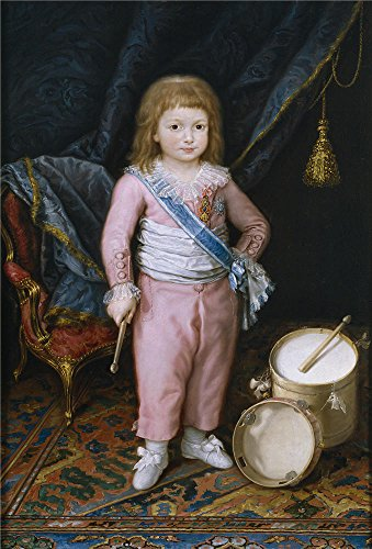 ['Carnicero Antonio Un infante con tambor y pandereta 1798 1802 ' oil painting, 16 x 24 inch / 41 x 60 cm ,printed on polyster Canvas ,this Best Price Art Decorative Prints on Canvas is perfectly suitalbe for Kids Room decoration and Home decor and] (Tin Foil Robot Costume)