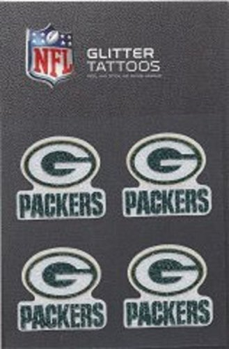NFL Green Bay Packers Glitter Tattoo, set of 4 ()