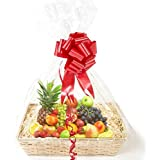10 pack Clear CELLOPHANE Bags GIFT BASKET packaging bag, Flat (Large) 24 x 30 inches. - Fancy & Easy Gift, Cake, Wine, Basket Decoration for any EVENTS Ships PRIME from USA!! #1 Best!!