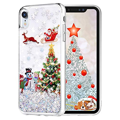 - Maxdara Christmas Case for iPhone XR, Merry Christmas Tree Pattern Glitter Liquid Bling Sparkle Pretty Cute Case for Girls Children Women Gifts XR Christmas Case 6.1 inch(Tree)