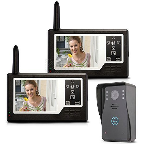 Mountainone 2.4G 3.5'' TFT Wireless Video Door Phone Intercom System Doorbell Home Security 1-camera 2-monitors by MOUNTAINONE