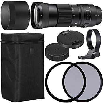 Image of Accessory Kits Sigma 150-600mm f/5-6.3 DG OS HSM Contemporary Lens for Nikon F with 95mm UV and 95mm Polarizing Filer + Case + Collar C-PL AOM Starter Kit - International Version
