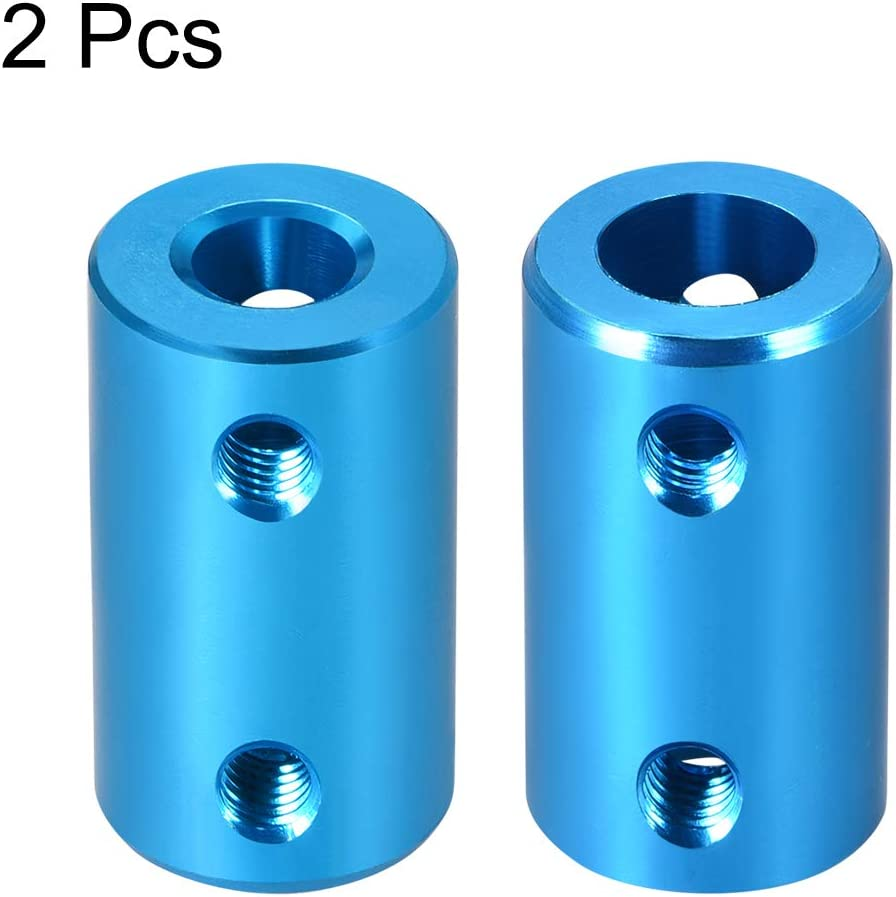 uxcell/® Shaft Coupling 6mm to 6mm Bore L25xD14 Robot Motor Wheel Rigid Coupler Connector Blue 2 PCS