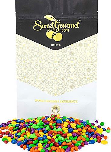 SweetGourmet Rainbow Candy Coated Chocolate Sunflower Seeds | Kosher | 1 pound ()