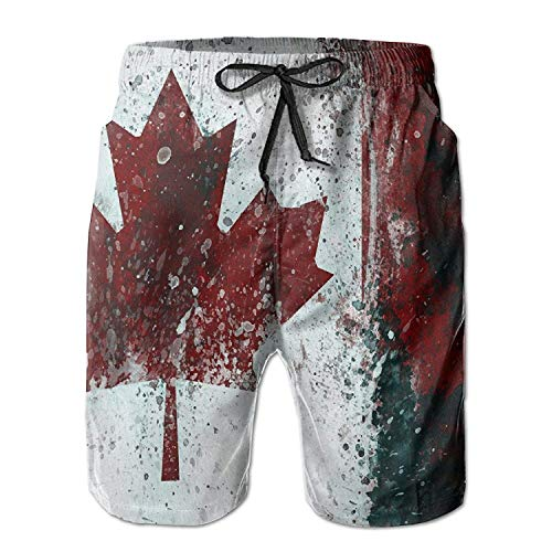 Maillot Été Pantalon Slim Fit Mens D'impression Maple Blanc Canada Cargo Décontracté Vêtements De Short Fashion Bain Fête Leaves Lannister Respirant Plage Drapeau 3d p0wvwCq
