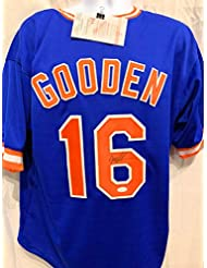 Dwight Gooden New York Mets Signed Autograph Blue Custom Jersey JSA  Witnessed Certified 6871714bf