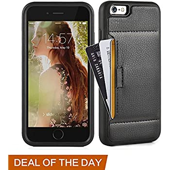 iphone 6 Plus Wallet case, iphone 6 Plus Case with Card Holder, ZVE 2nd Gen Apple iphone 6s Plus Protective Leather Wallet Case with Credit Card Holder Slot for Apple iphone 6 / 6S Plus 5.5 inch-Black
