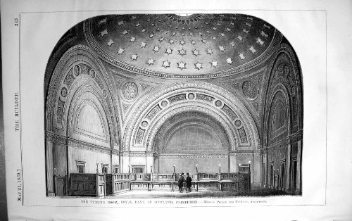 old-original-antique-victorian-print-telling-room-royal-bank-scotland-edinburgh-peddie-kinnear-archi