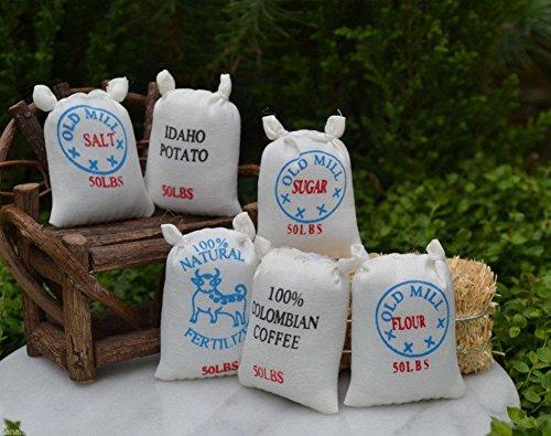 Miniature Dollhouse FAIRY GARDEN Accessories Set of 6 Food Sacks - Diorama Price