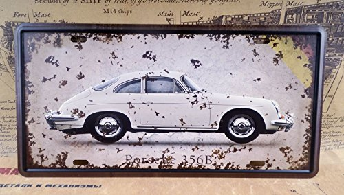 White Luxury Car Retro Metal Tin Signs Vintage Car License Plates Decor Bar Pub Home Wall (Bud Luxury Duck)