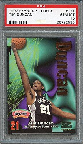 ab3d3885274 1997-98 skybox z-force #111 TIM DUNCAN san antonio spurs rookie card