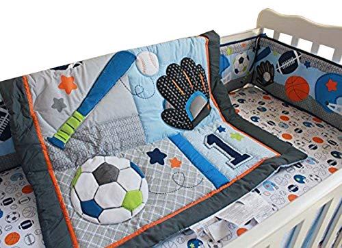 - F.C.L 6 Pieces Baby Boy Sport Crib Bedding Set